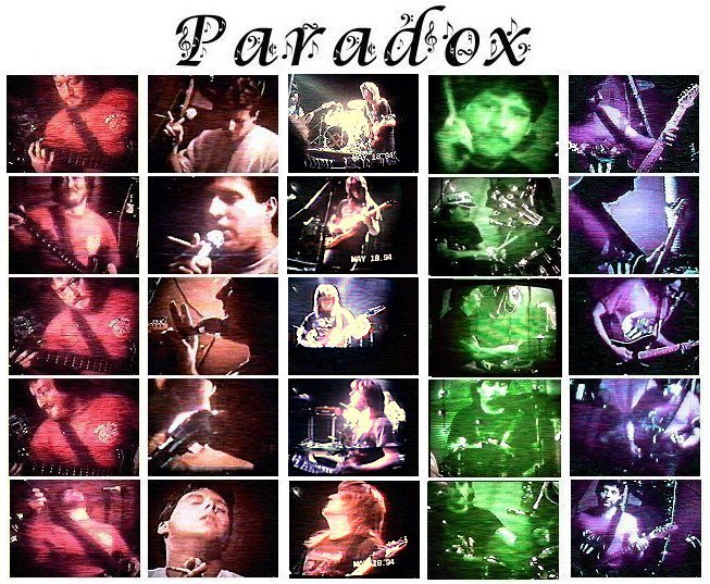 My garage band, Paradox, in 1993. From left to right: Reggie Richardson (Bass guitar & vocals), Steve Martin (lead vocals), Todd Hill (guitar), Ernest 'Russ' Russell (drums), & myself Bob Beal (lead guitar).